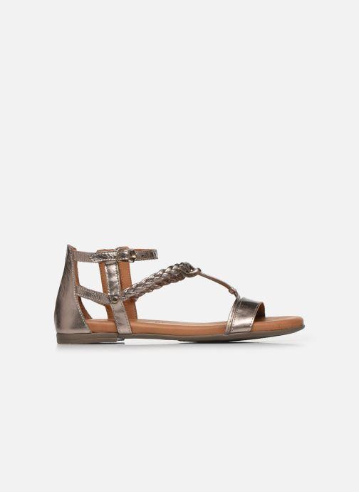 Sandales et nu-pieds Tamaris NAOO Or et bronze vue derrière