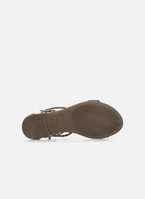 Sandales et nu-pieds Tamaris NAOO Or et bronze vue haut