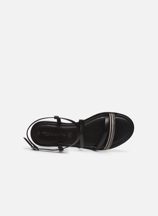 Sandales et nu-pieds Tamaris BALA Noir vue gauche