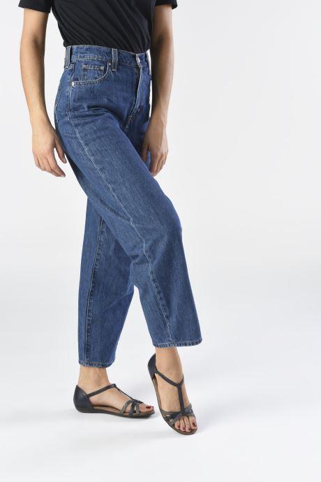 Sandales et nu-pieds Tamaris BAMBA Bleu vue bas / vue portée sac