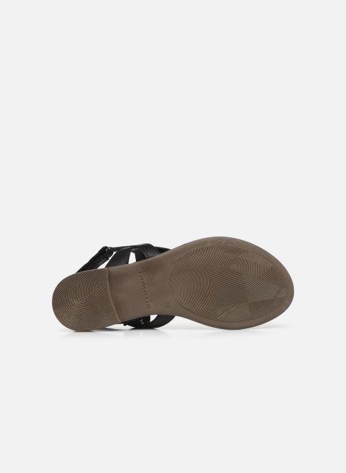 Sandales et nu-pieds Tamaris MANAO Noir vue haut