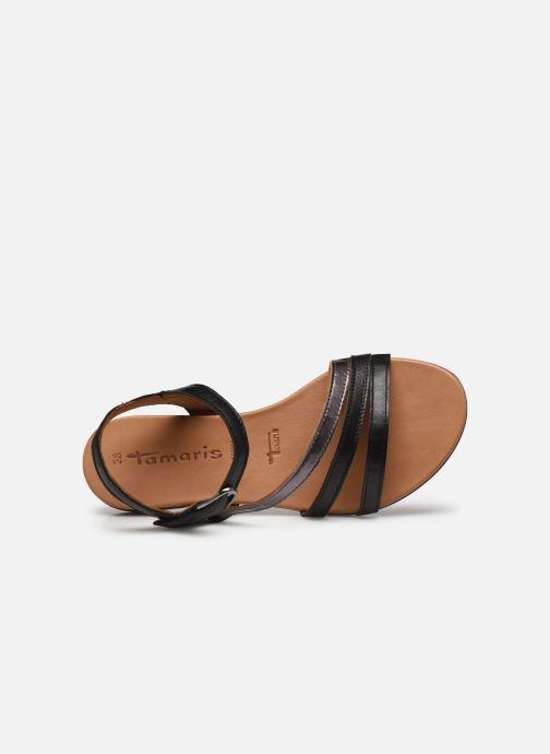 Sandales et nu-pieds Tamaris VINA Noir vue gauche