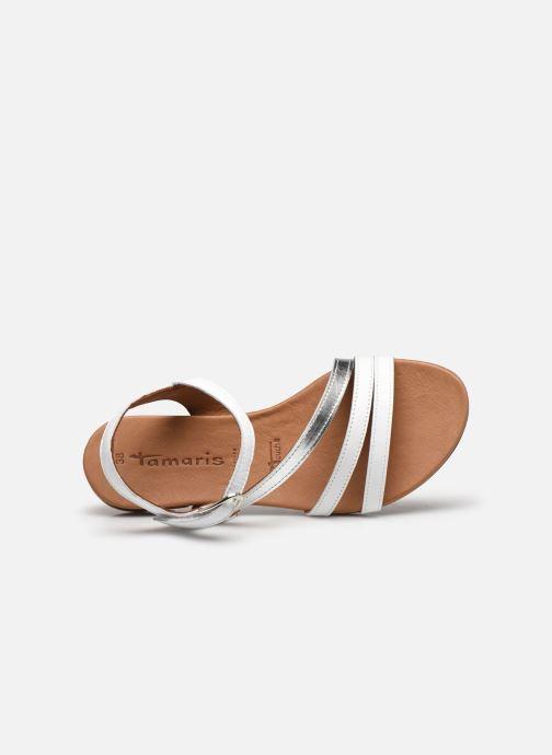 Sandales et nu-pieds Tamaris VINA Blanc vue gauche