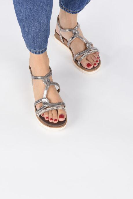 Sandales et nu-pieds Tamaris KAY Argent vue bas / vue portée sac