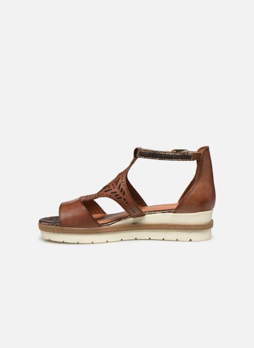 Sandales et nu-pieds Tamaris ZANA Marron vue face