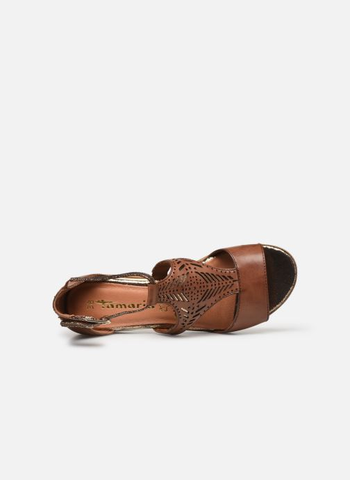 Sandales et nu-pieds Tamaris ZANA Marron vue gauche