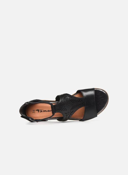 Sandales et nu-pieds Tamaris ZANA Noir vue gauche