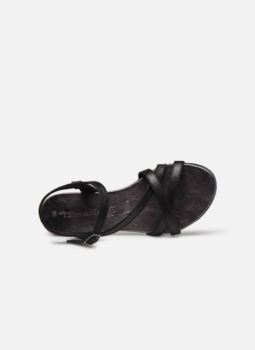 Sandales et nu-pieds Tamaris ABY Noir vue gauche