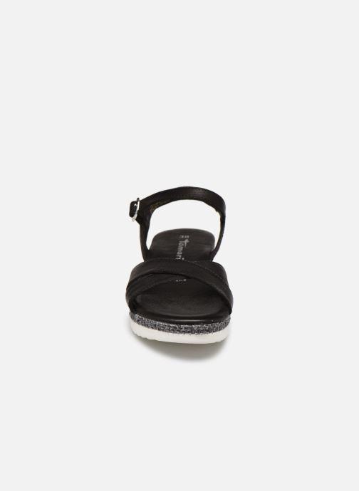 Sandales et nu-pieds Tamaris ALBAM Noir vue portées chaussures