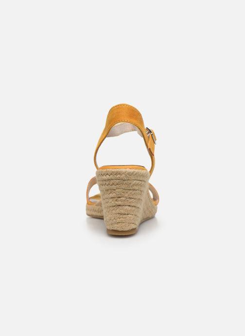 Sandales et nu-pieds Tamaris PELPA Jaune vue droite