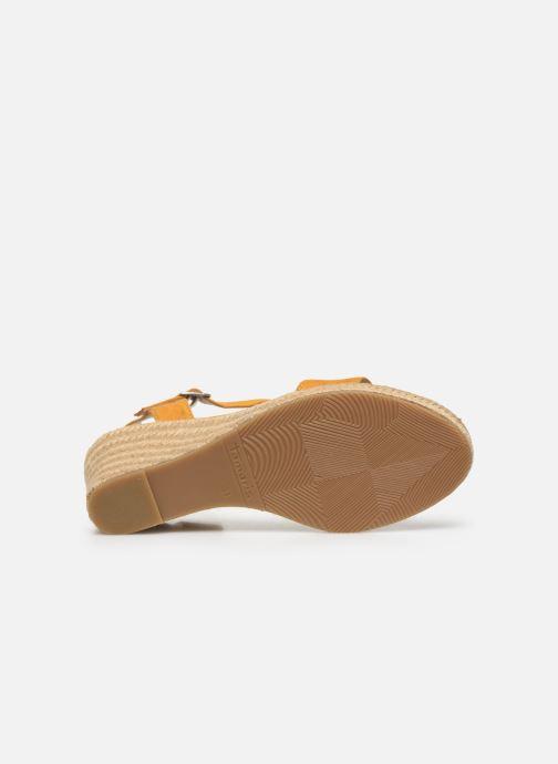 Sandales et nu-pieds Tamaris PELPA Jaune vue haut