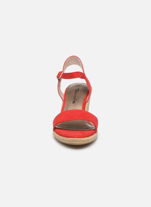 Sandales et nu-pieds Tamaris PELPA Rouge vue portées chaussures