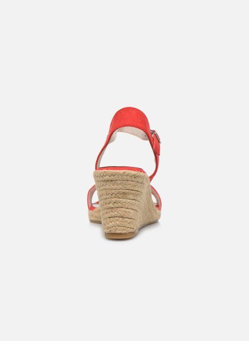 Sandales et nu-pieds Tamaris PELPA Rouge vue droite