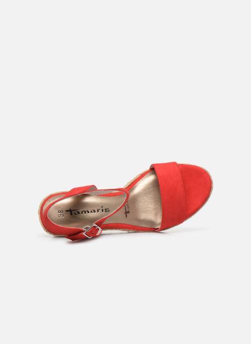 Sandales et nu-pieds Tamaris PELPA Rouge vue gauche