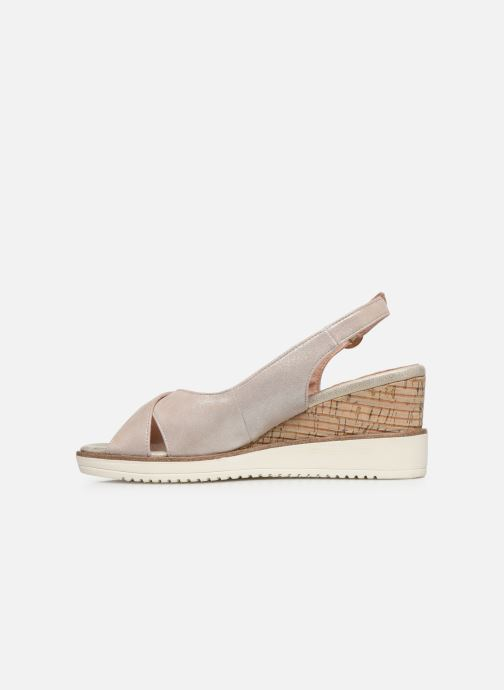 Sandales et nu-pieds Tamaris MAMO Or et bronze vue face