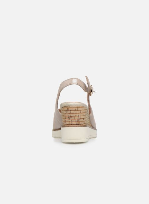 Sandales et nu-pieds Tamaris MAMO Or et bronze vue droite