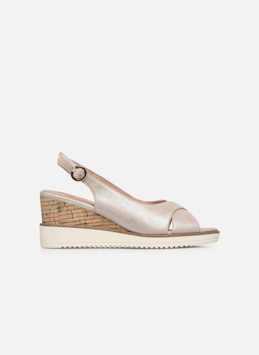 Sandales et nu-pieds Tamaris MAMO Or et bronze vue derrière