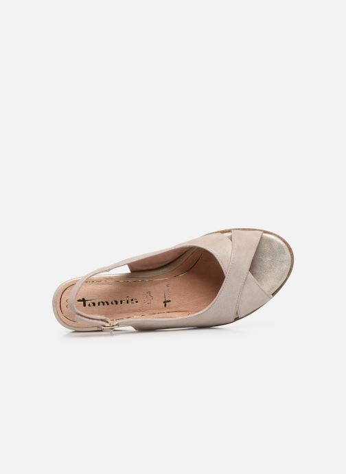 Sandales et nu-pieds Tamaris MAMO Or et bronze vue gauche