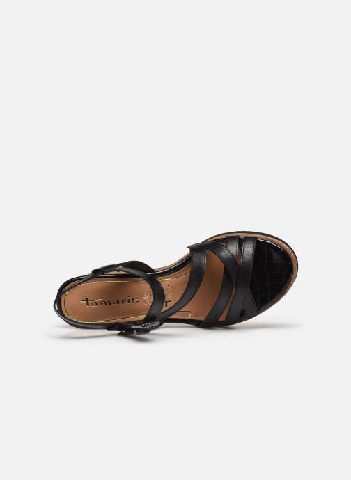 Sandales et nu-pieds Tamaris HAVEL Noir vue gauche