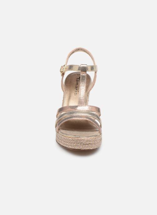 Sandales et nu-pieds Tamaris LENNY Rose vue portées chaussures