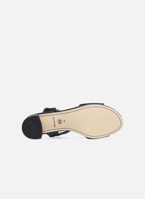 Sandali e scarpe aperte Tamaris TOPAZ Nero immagine dall'alto