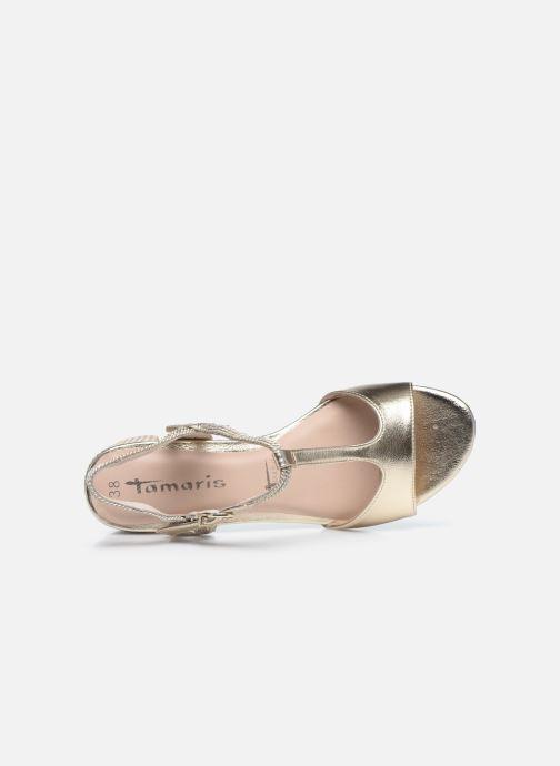 Sandales et nu-pieds Tamaris TOPAZ Or et bronze vue gauche