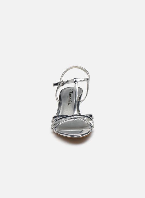 Sandales et nu-pieds Tamaris YURI Argent vue portées chaussures