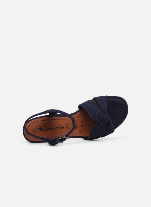 Sandales et nu-pieds Tamaris ZEKI Bleu vue gauche