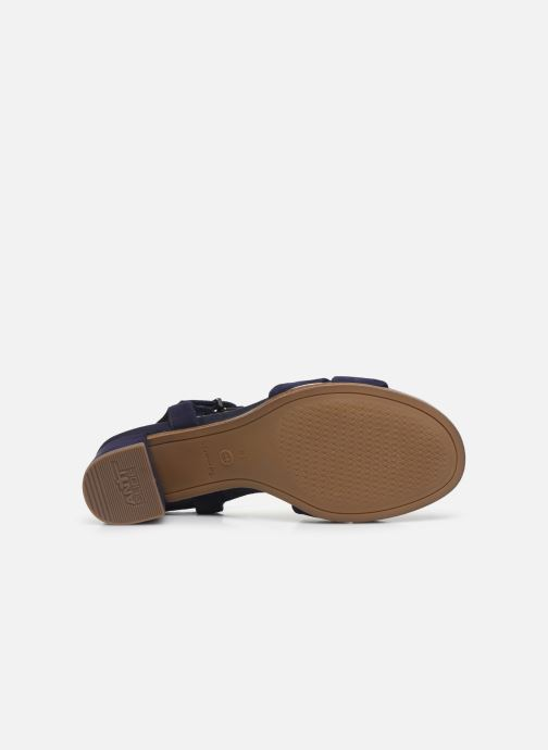 Sandales et nu-pieds Tamaris ZEKI Bleu vue haut