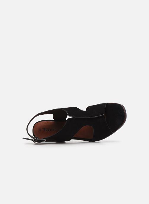 Sandales et nu-pieds Tamaris ZETA Noir vue gauche