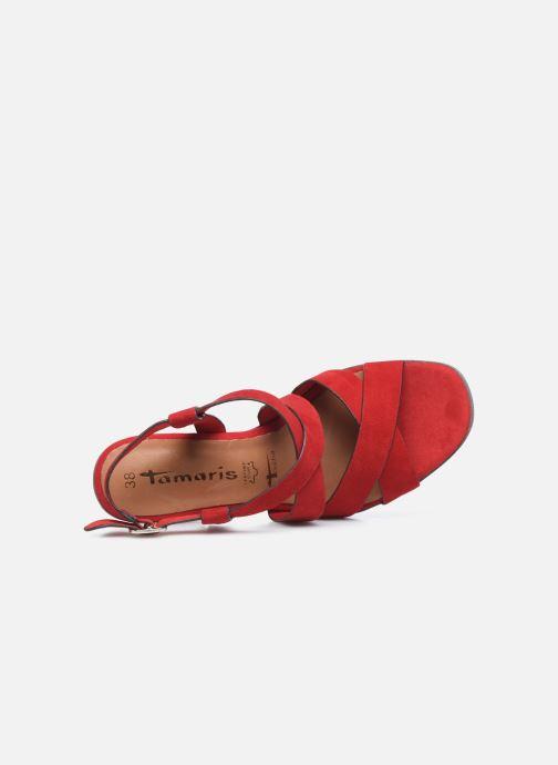 Sandales et nu-pieds Tamaris ZINA Rouge vue gauche