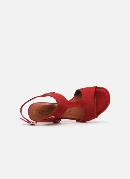 Sandales et nu-pieds Tamaris ZAZA Rouge vue gauche
