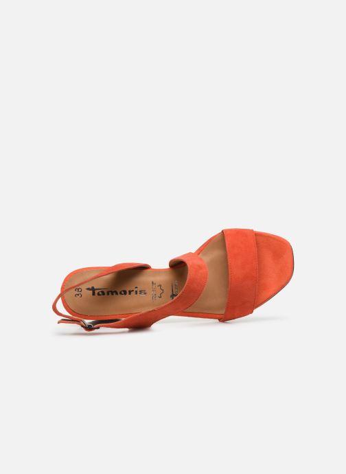 Sandales et nu-pieds Tamaris OOXI Orange vue gauche