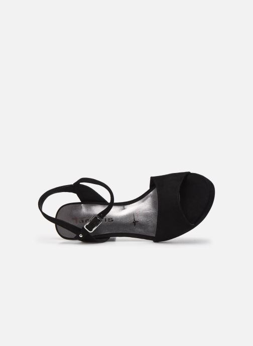 Sandales et nu-pieds Tamaris BEAL Noir vue gauche