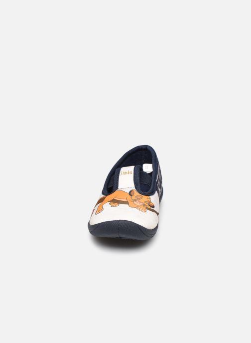 Chaussons Disney Animals Samoyede Bleu vue portées chaussures