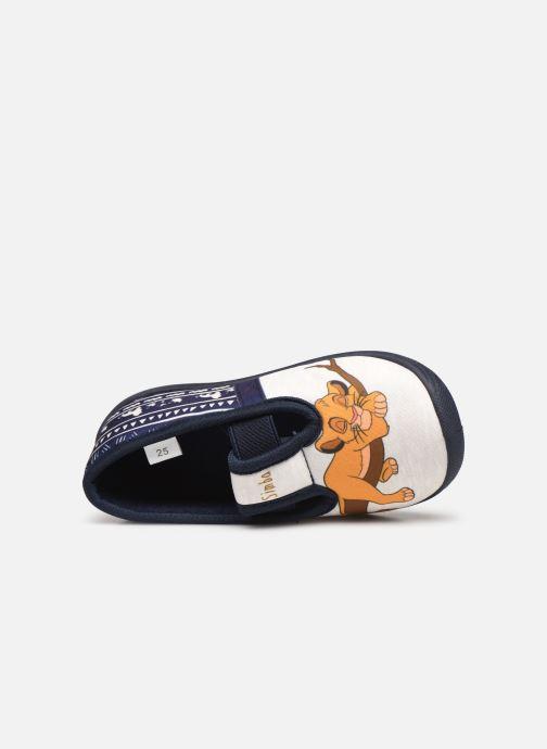 Chaussons Disney Animals Samoyede Bleu vue gauche