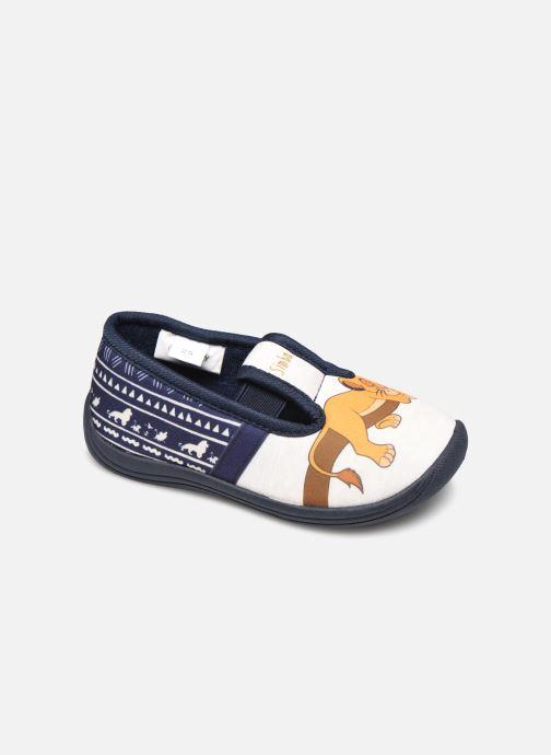 Chaussons Disney Animals Samoyede Bleu vue détail/paire