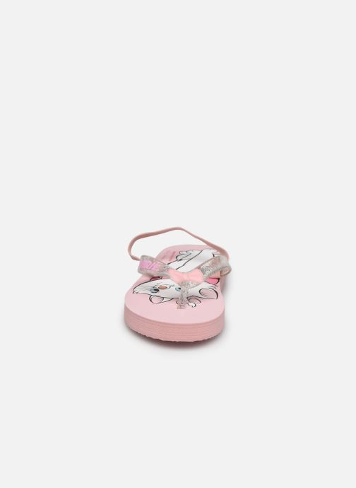 Tongs Disney Animals Sambo Rose vue portées chaussures