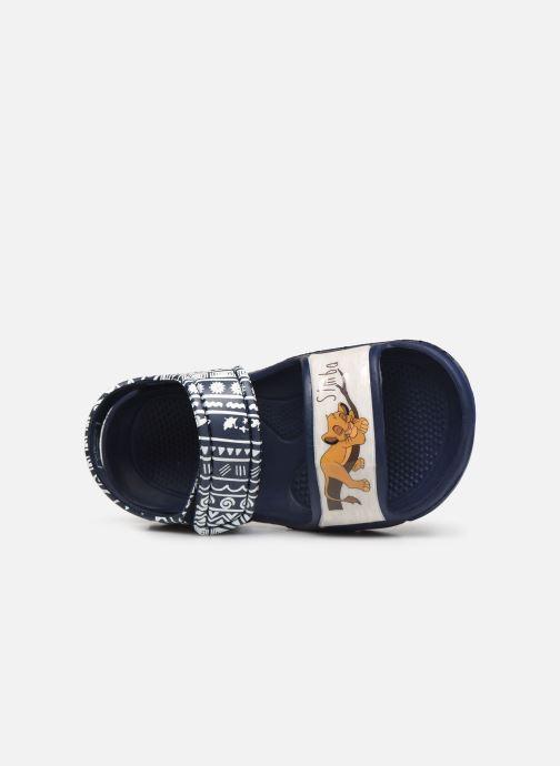 Sandales et nu-pieds Disney Animals Soucis Bleu vue gauche