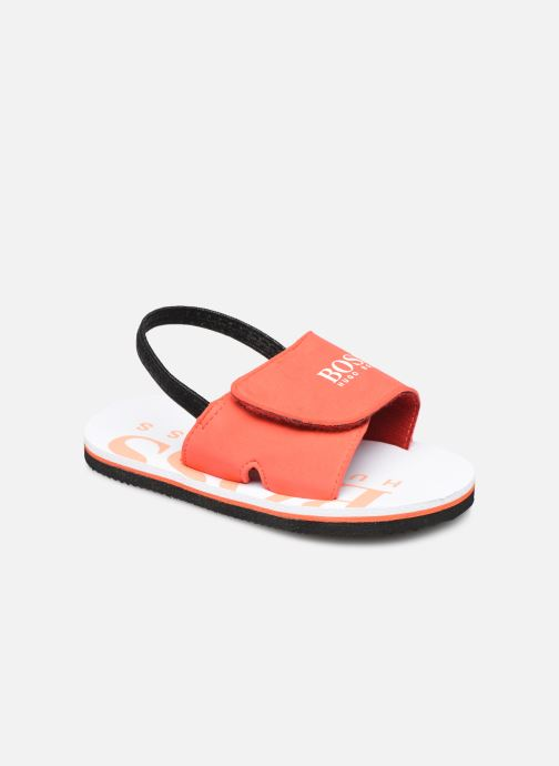 Sandals BOSS J09123 Orange detailed view/ Pair view