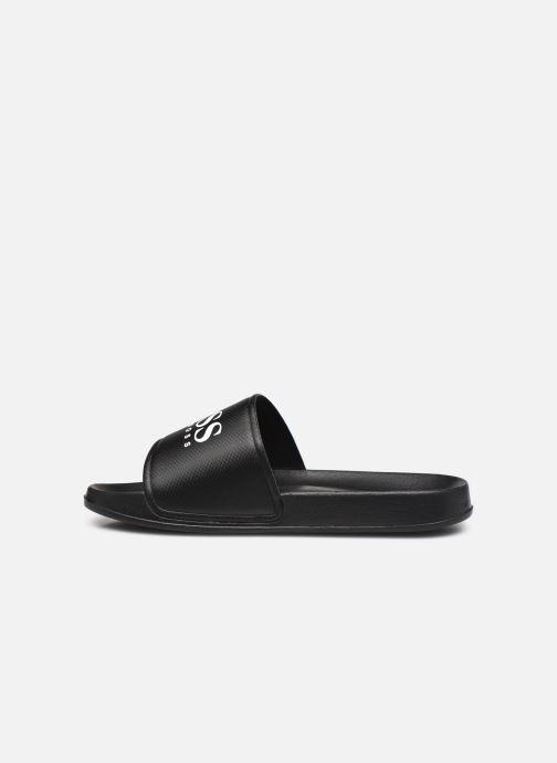 Sandalen BOSS J29199 schwarz ansicht von vorne