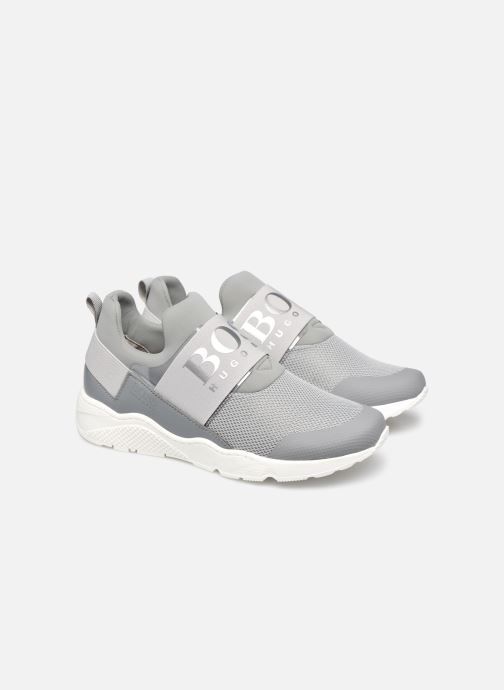 Trainers BOSS J29H93 Grey 3/4 view