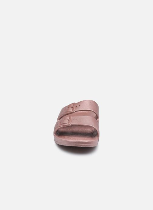 Mules et sabots Freedom Moses Mettalic W Rose vue portées chaussures