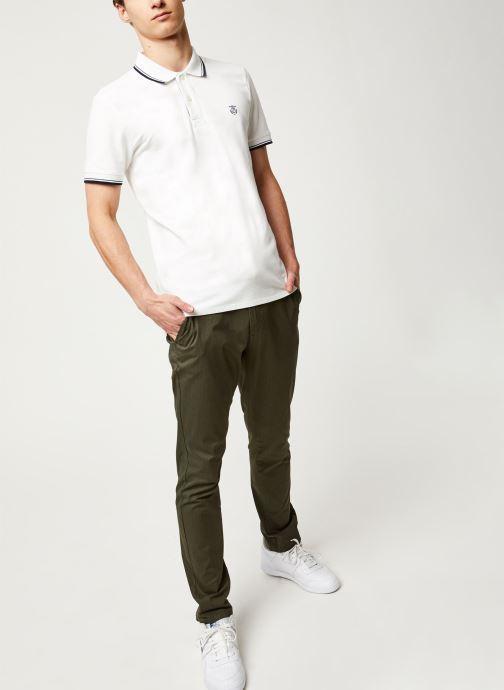 Vêtements Selected Homme Slhnewseason SS Polo Blanc vue bas / vue portée sac