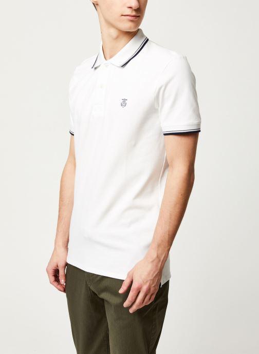 Vêtements Selected Homme Slhnewseason SS Polo Blanc vue droite
