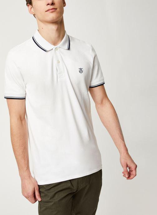 Vêtements Selected Homme Slhnewseason SS Polo Blanc vue détail/paire