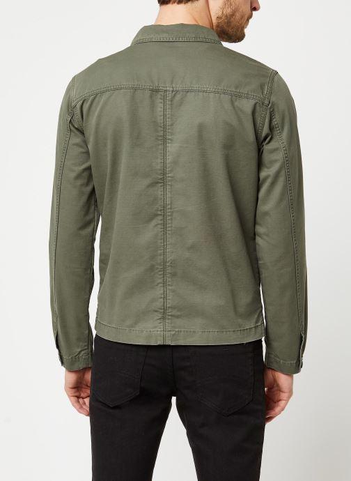 Vêtements Selected Homme Slhcharlie Workwear Jacket Vert vue portées chaussures