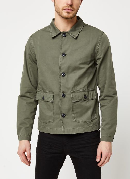 Vêtements Selected Homme Slhcharlie Workwear Jacket Vert vue droite