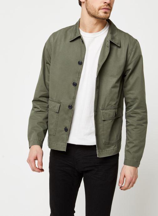 Vêtements Selected Homme Slhcharlie Workwear Jacket Vert vue détail/paire