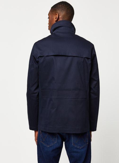 Vêtements Selected Homme Slhken Trench Coat Bleu vue portées chaussures